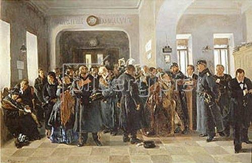 Wladimir J Makovskij: Der Konkurs. 1881.