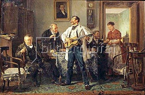 Wladimir J Makovskij: Alte Freunde. 1878.