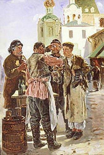 Wladimir J Makovskij: Der Kwass-Verkäufer. 1879.