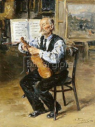 Wladimir J Makovskij: Der Geigenbauer. 1914.