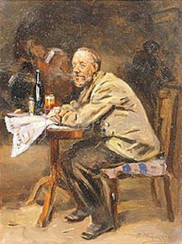 Wladimir J Makovskij: Der Trinker.