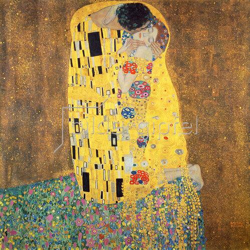 Gustav Klimt: Der Kuß. 1907/1908