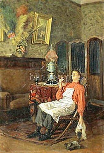 Wladimir J Makovskij: Wenn der Herr nicht zu Hause ist. 1900-er Jahre.