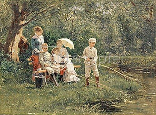 Wladimir J Makovskij: Familienrast in der Mittagssonne. 1881.