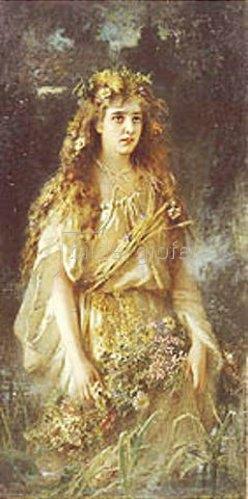 Wladimir J Makovskij: Ophelia. 1884.