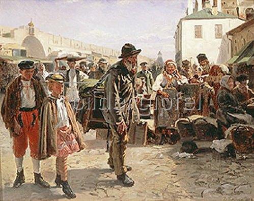 Wladimir J Makovskij: Der Leierkastenmann. 1879.