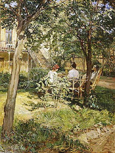 Mikhail Anatoljewitsch Mamontov: Im Garten. 1910-er  Jahre.