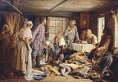 Wassily Maximov: Die Aufteilung des Eigentums. 1876.