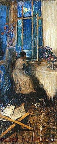 Wassily Meschkov: Abendliche Träumerei am Fenster. 1914.