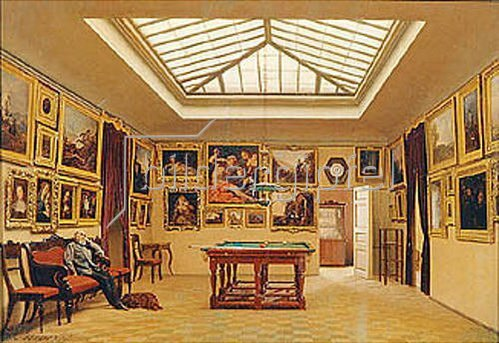 Alexander Iwanow Morosoff: Ein Billiard-Raum. 1876.