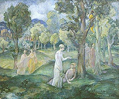 Pawel Semenowitsch Naumov: Weg durch den lichten Wald. 1918.