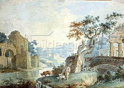 Ilja Neelov: Italienische Landschaft. 1776.