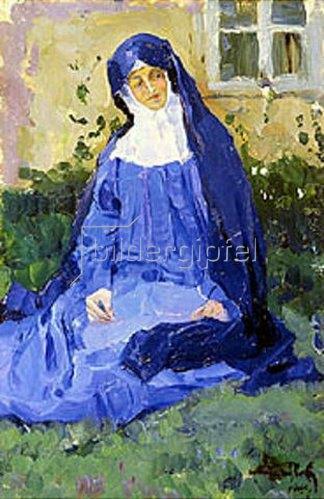 Michail Wassiljew Nesterow: Eine Nonne. 1909.