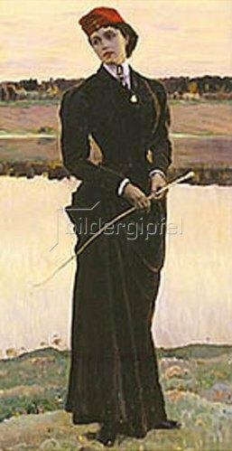 Michail Wassiljew Nesterow: Bildnis der Tochter, Olga Nesterowa. 1906.