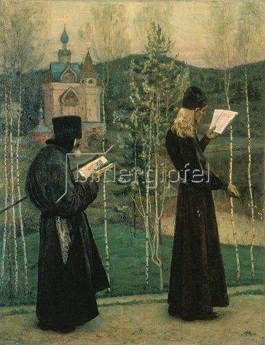 Michail Wassiljew Nesterow: Wenn die Kirchenglocken rufen. 1895.