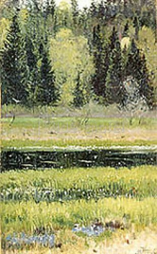 Michail Wassiljew Nesterow: Grüne Landschaft. 1890.