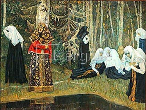 Michail Wassiljew Nesterow: Die Legende von der Stadt Kitezh (Im Wald). 1917/1922.
