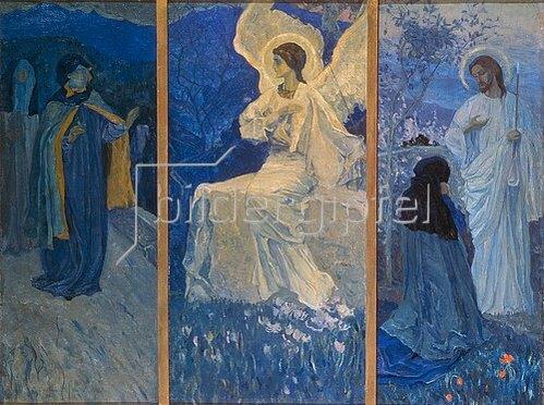 Michail Wassiljew Nesterow: Die Auferstehung. Triptychon. 1922