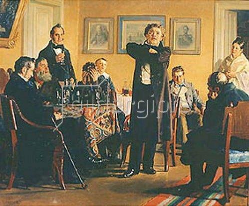 Nikolaj Wassiljewitsch Nevrev: Der Schauspieler Mochalov mit seinen Bewunderern. 1888.