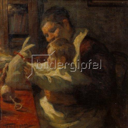Leonid Ossipowitsch Pasternak: Hase, Kinderfrau und Kind. 1901