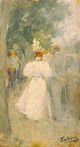Leonid Ossipowitsch Pasternak: Promenierendes Paar auf einem Pariser Boulevard. 1895.