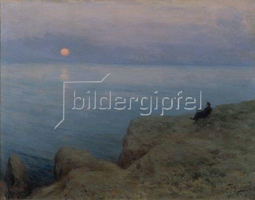 Leonid Ossipowitsch Pasternak: Der Dichter Alexander Puschkin am Ufer des Meeres. 1896