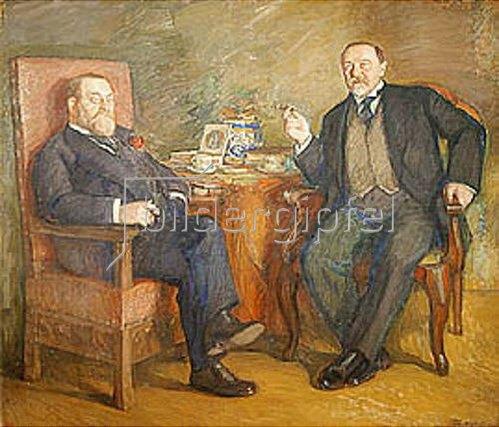 Leonid Ossipowitsch Pasternak: Die Kunstsammler O. Zetlin und D. Vysotsky. 1913.