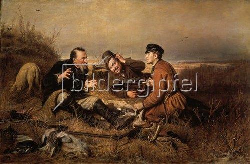 Wassili Perow: Gespräch unter Jägern. 1871
