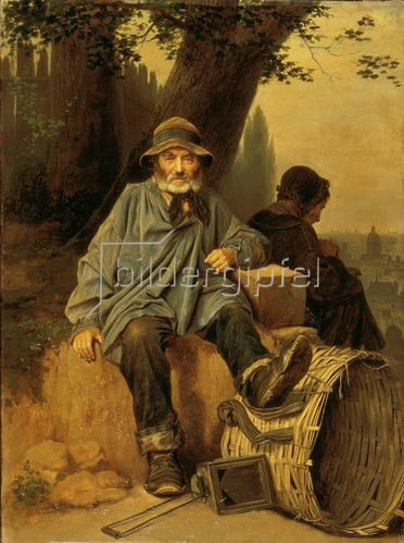 Wassili Perow: Altwarenhändler in Paris. 1864