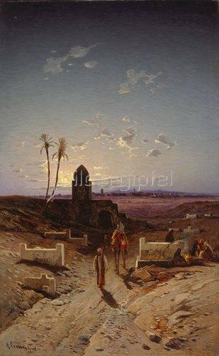 Hermann David Salomon Corrodi: Abendlicht in der Wüste.