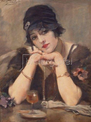 Jean Léon Henri Gouweloos: Träumerei. 1920-er Jahre.