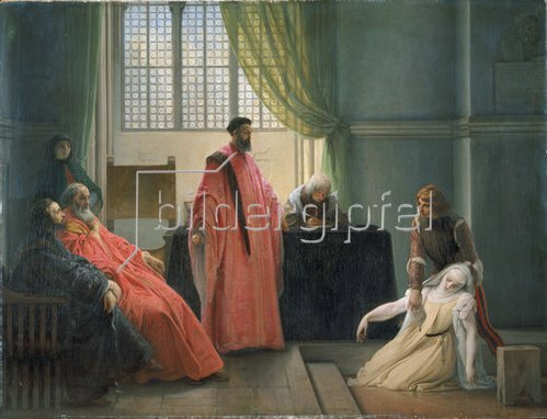 Francesco Hayez: Valenza Gradenico vor der Hl. Inquisition.