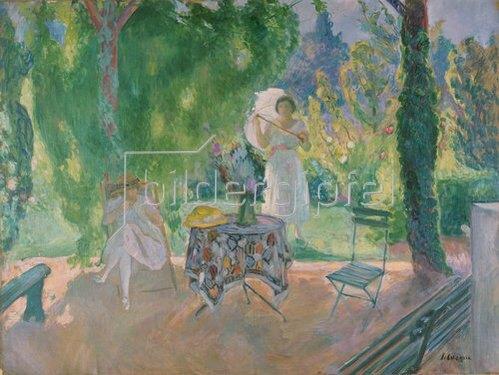Henri Lebasque: Frühstückstisch im Garten. Um 1923