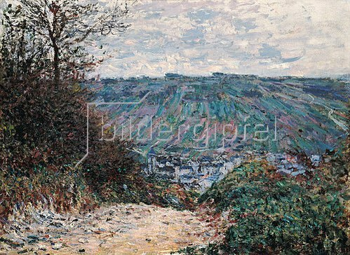 Claude Monet: Hohlweg bei Giverny. 1885.