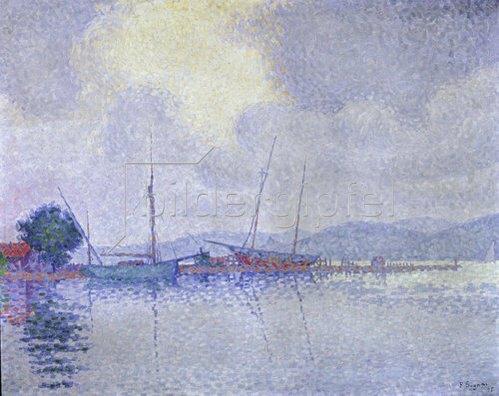 Paul Signac: Nach dem Sturm (Saint-Tropez). 1895.