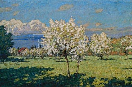 Pjotr Petrowitschev: Blühende Kirschbäume. 1919.