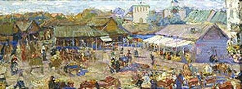 Pjotr Petrowitschev: Markttag in Pskov. 1916.