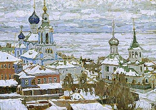 Pjotr Petrowitschev: Türme von Rostow im Winter. 1910.