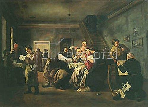 Andrej Andrejewitsch Popov: In einem russischen Speisehaus. 1859.