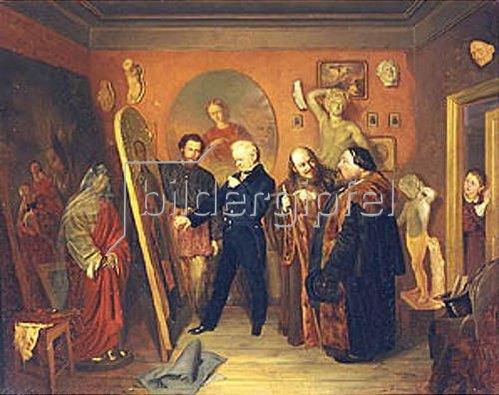 Wassilij Pukirev: Im Künstleratelier. 1865.