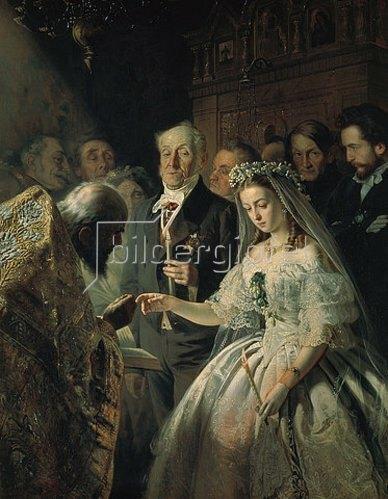 Wassilij Pukirev: Die sonderbare Hochzeit. 1862.