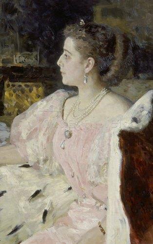 Ilja Efimowitsch Repin: Fürstin Natalia Golovina, Bildnis, 1896