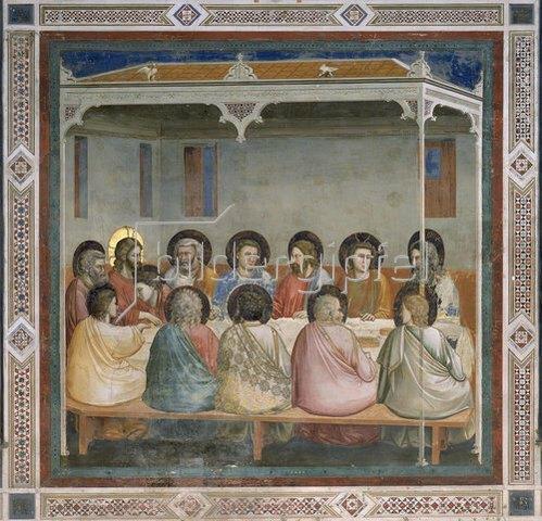 Giotto di Bondone: Das letzte Abendmahl. 1305