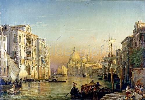 Friedrich Nerly (Nehrlich): Canale Grande in Venedig.