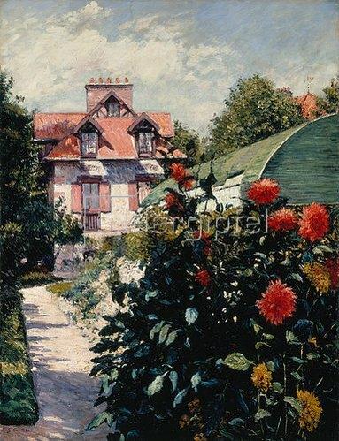 Gustave Caillebotte: Die Dahlien - Garten im kleinen Dorf Gennevilliers. 1893