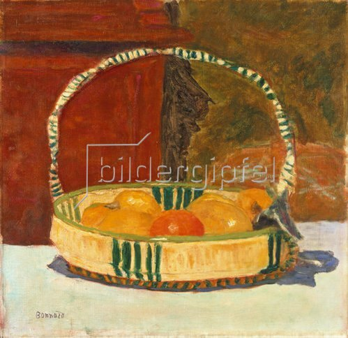 Pierre Bonnard: Früchtekorb. 1924