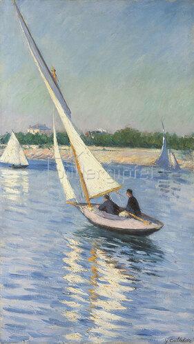 Gustave Caillebotte: Segelboot auf der Seine bei Argenteuil. 1893
