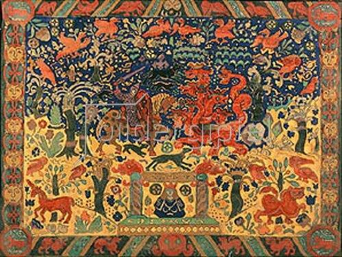 Nikolai Konstantinow Roerich: Der Kampf mit dem Drachen. 1912.