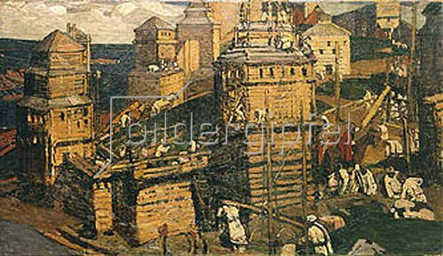 Nikolai Konstantinow Roerich: Bau einer neuen Stadt. 1902.