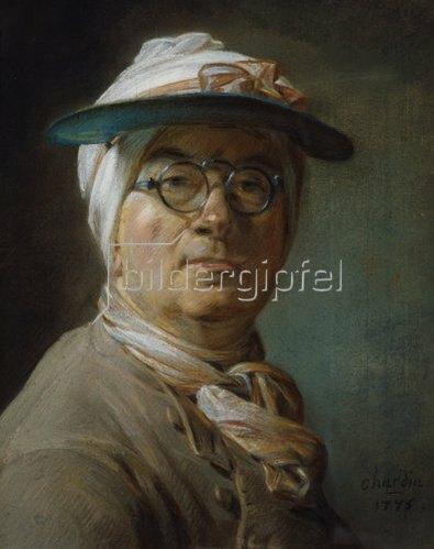 Jean-Baptiste Siméon Chardin: Selbstbildnis mit Mützenschirm.
